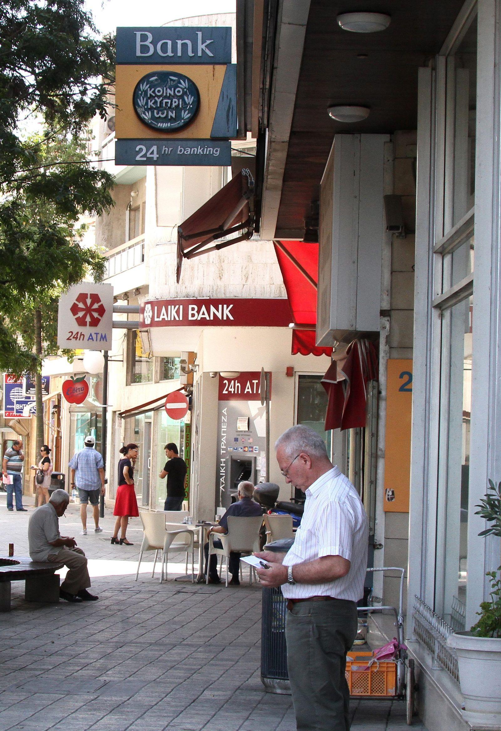 Cyprus economy - banks in Nicosia
