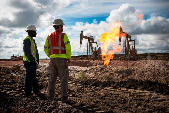 Öl-Fracking in North Dakota