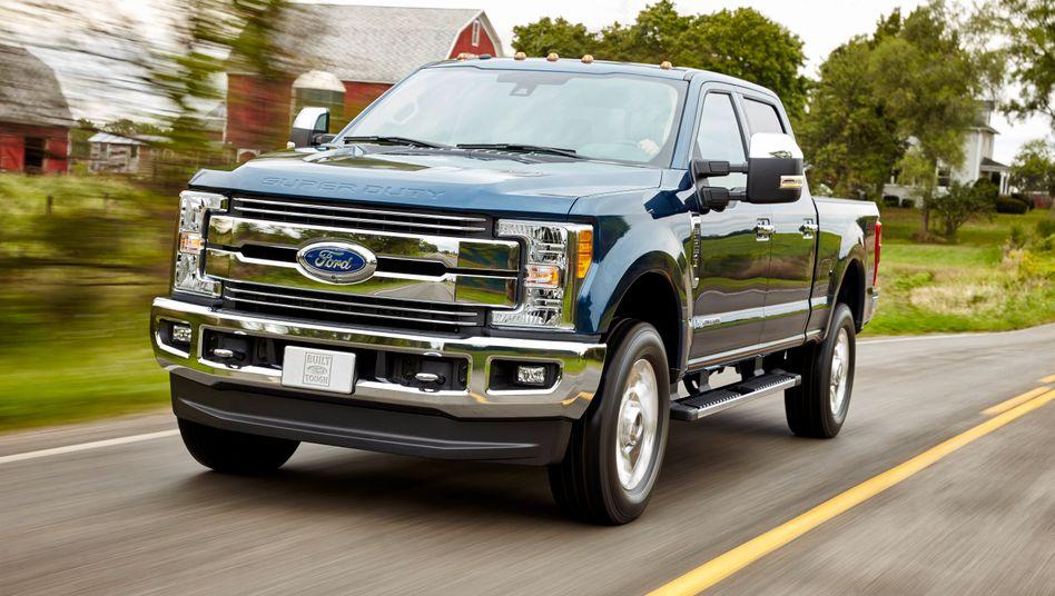 Ford F-250 Super Duty: Die Pick-up-Trucks des US-Autobauers sollen in Wahrheit mehr als 50 mal so viel Stickoxid ausstoßen wie erlaubt