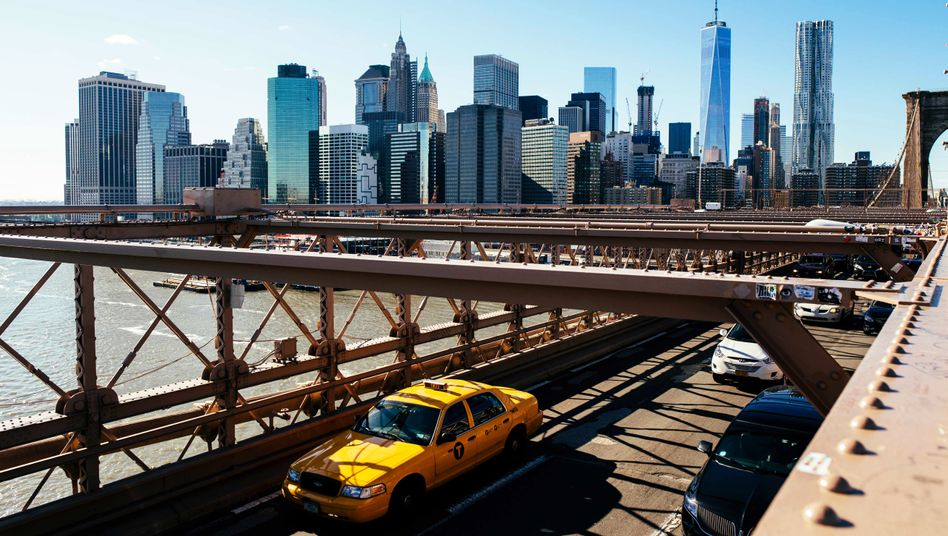 Bankenviertel in New York: 2,7 Prozent Wachstum in USA, 2,3 Prozent in Deutschland, schätzt der IWF