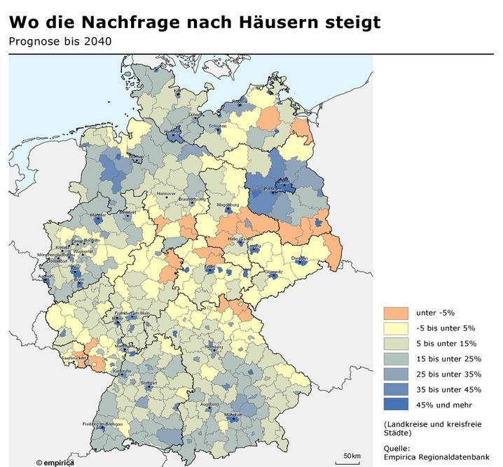 Prognose: Wo die Nachfrage nach Häusern steigt