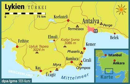 """Lykien: Der """"Likya Yolu"""" ist über 500 Kilometer lang"""