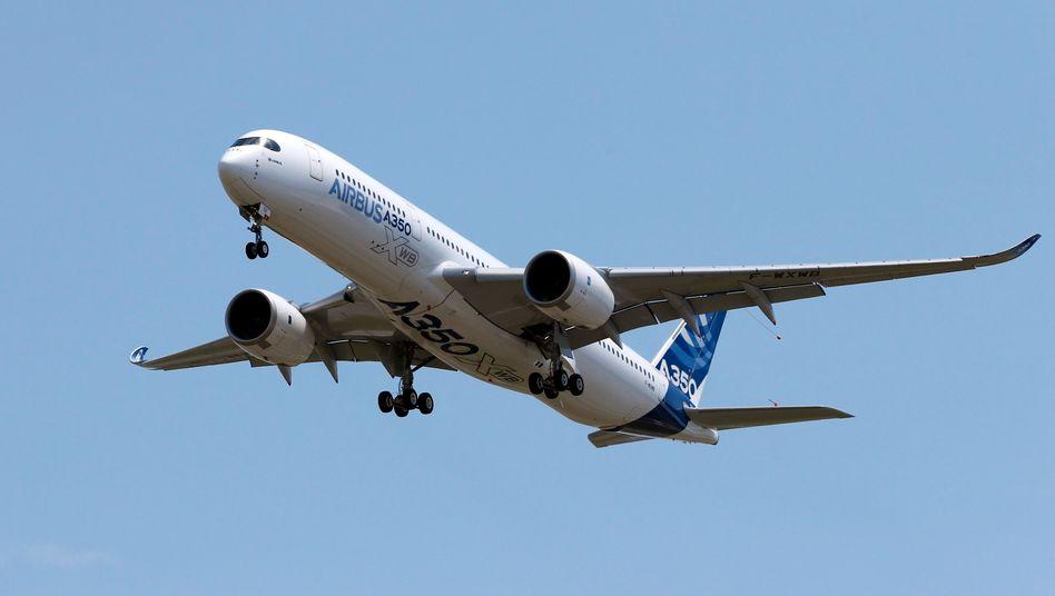 Hoffnungsträger: Der A350 schlägt für Airbus mit hohen Entwicklungskosten zu Buche, soll im Wettbewerb mit Boeing aber die Zukunft sichern