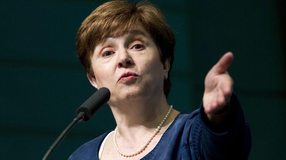 Kristalina Georgiewa: Vor Beginn der Herbsttagung des IWF in Washington kämpft die IWF-Chefin um ihren Job