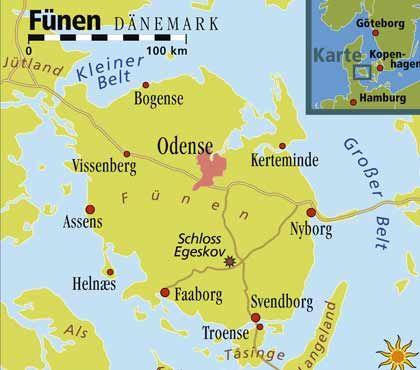 Inselleben: Fünen ist die zweitgrößte dänische Insel und liegt mitten in Dänemark zwischen Jütland und Seeland