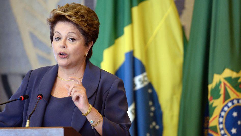 Hofft auf die Notenbank: Brasiliens Präsidentin Dilma Rousseff