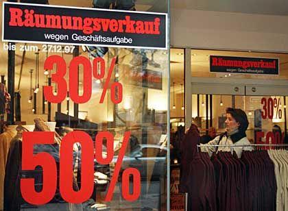 Flaue Geschäfte: Die Mehrwertsteuererhöhung sorgt weiter für Flaute an den Ladentheken