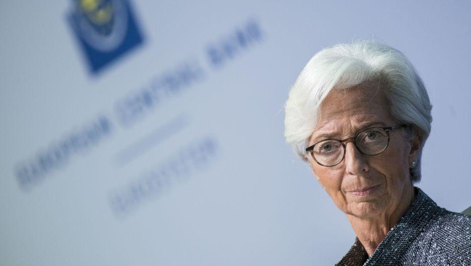 EZB-Chefin Christine Lagarde am Donnerstag in Frankfurt