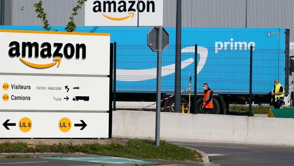 Amazon-Liegenschaft in Frankreich: Die Geschäfte des Konzerns laufen in der Corona-Krise rund.