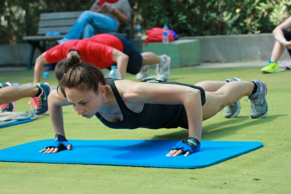 Fitnesscamp/ Türkei / Liegestütze