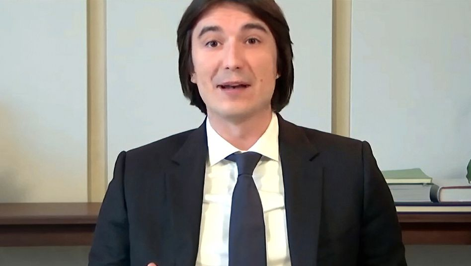 Kleinlaut: Robinhood-Chef Vlad Tenev in der Videokonferenz des Finanzausschusses im US-Repräsentantenhaus am Donnerstag