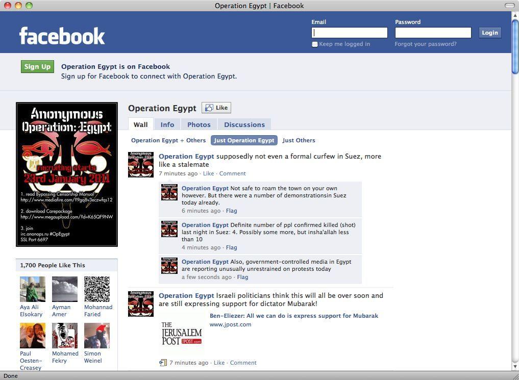 Screenshot Facebook/ Ägypten/ Aufruf