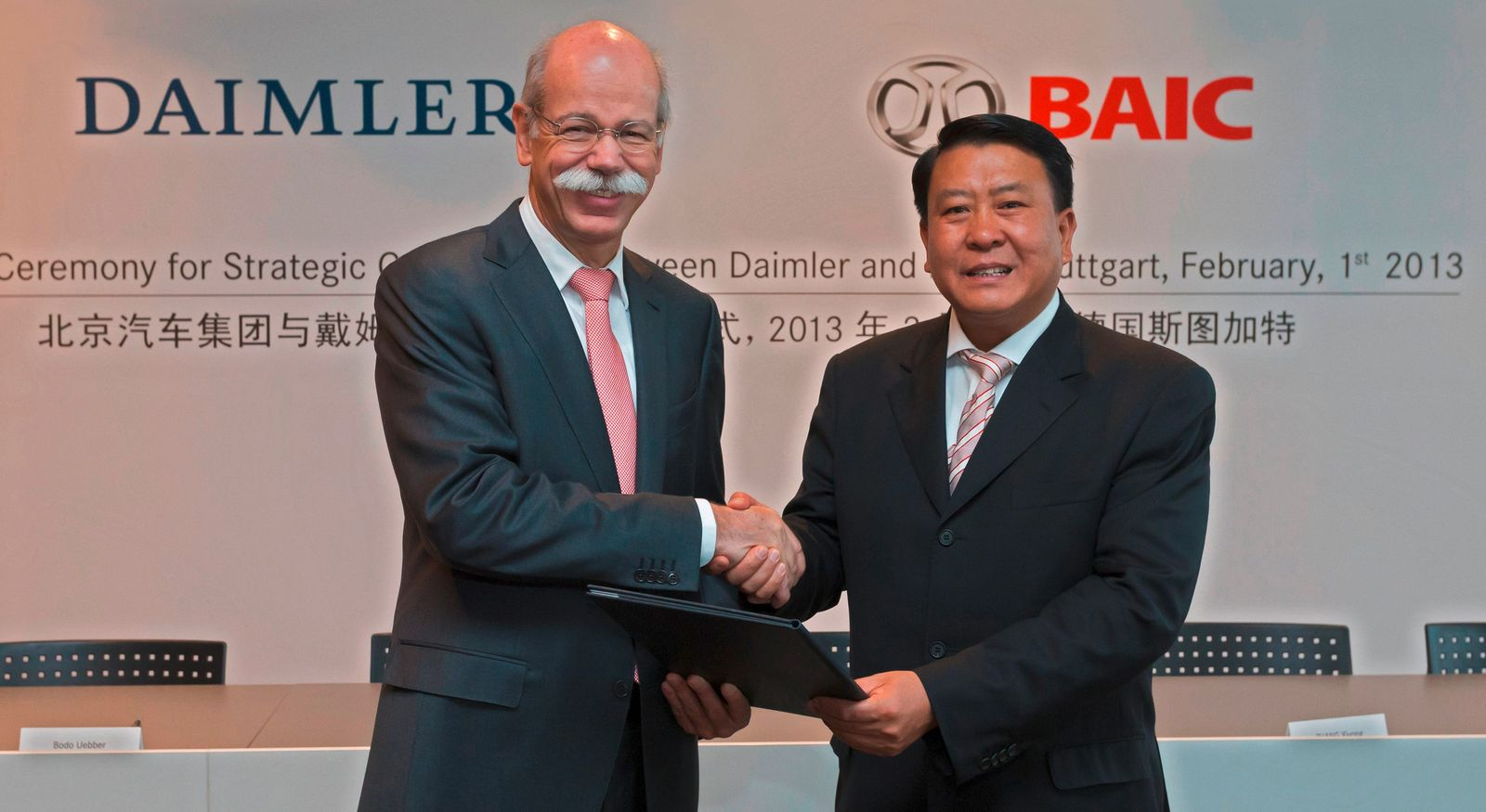 Daimler Kooperation mit BAIC / Zetsche / Xu