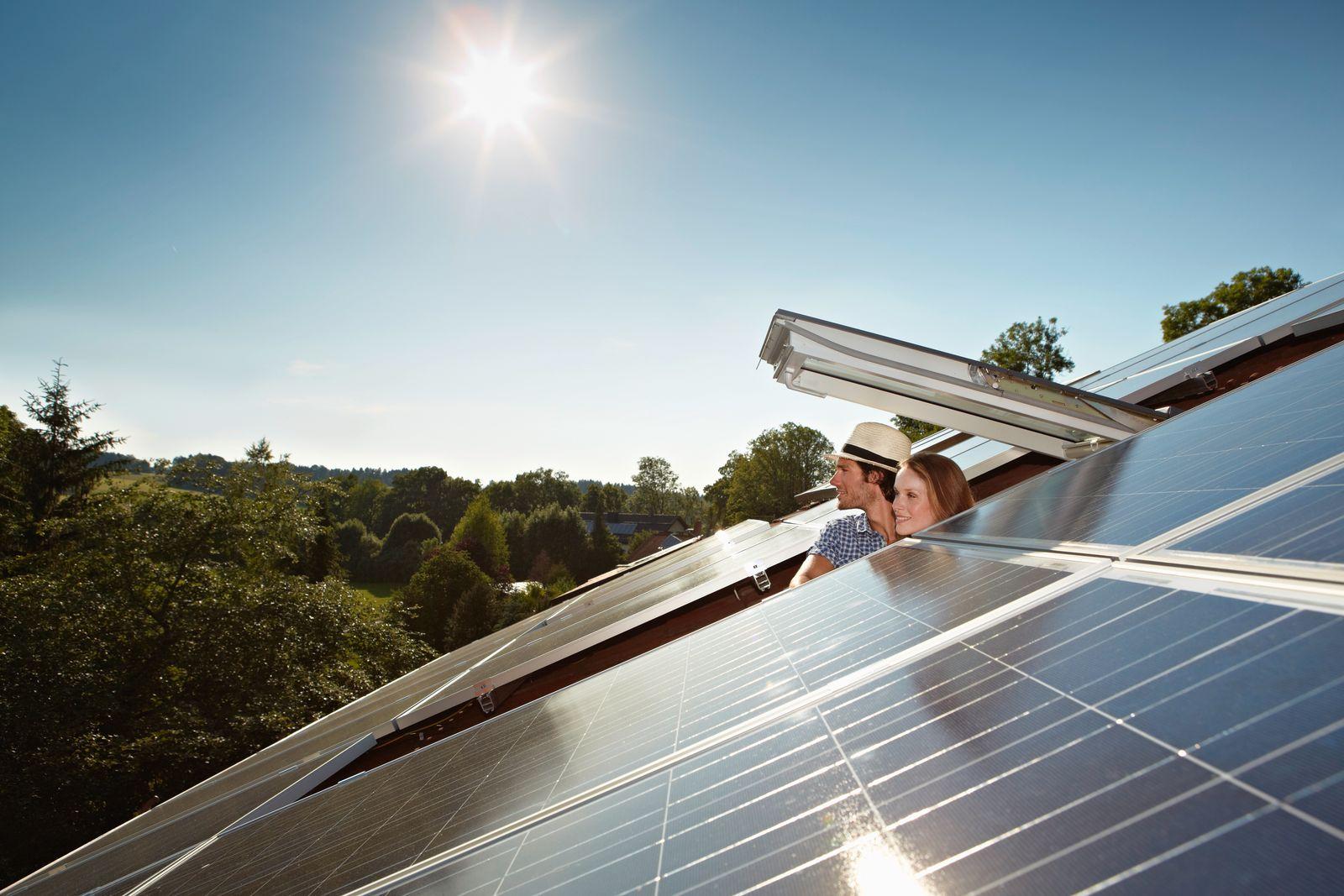 EINMALIGE VERWENDUNG Sonnenkollektor / Energieeffizienz