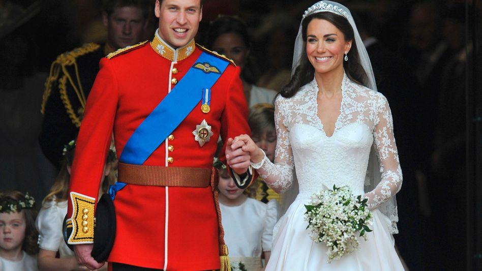 Heute mal in englischer Sprache: Britains Prince William and Catherine, Duchess of Cambridge - the royal wedding