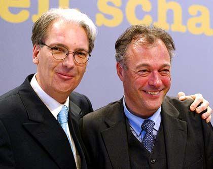 Zurück an die Macht: Der neue Aufsichtsratschef Marseille (r.) mit Parteifreund Roland Schill