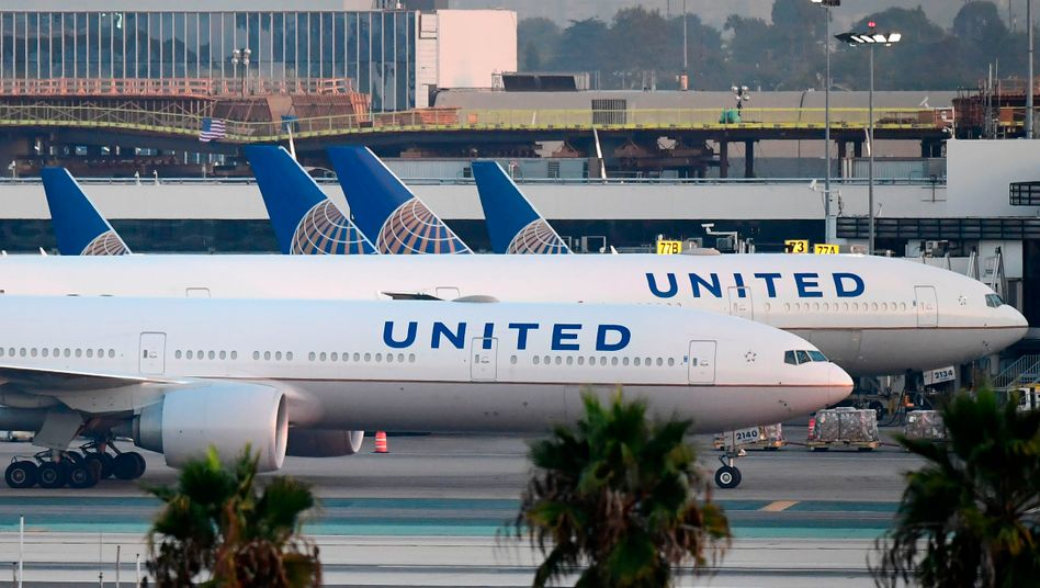 United Airlines am Boden