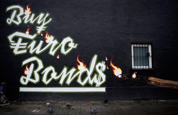 Eurobonds-Graffito in München (Archivaufnahme)