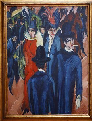 """Versteigerung: Das Ölgemälde """"Berliner Strassenszene"""" von Ernst Ludwig Kirchner wurde für 38 Millionen Dollar verkauft"""