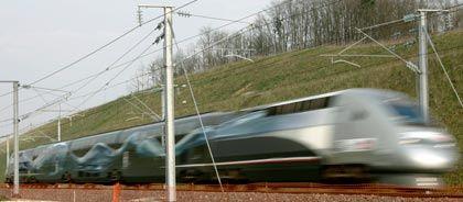 Immer schneller: Hochgeschwindigkeitszüge wie der TGV schaffen inzwischen mehr als 300 Stundenkilometer