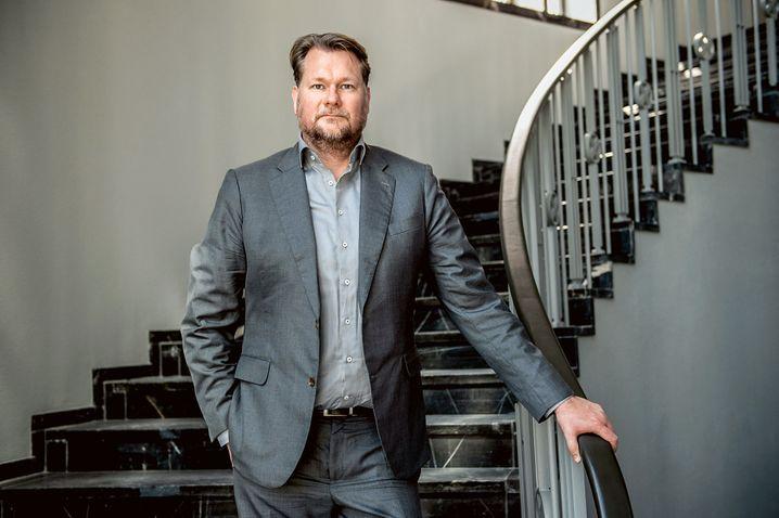 Stiller Star: Think-Cell-Mitgründer Markus Hannebauer in seinem Privatmuseum, in dem er seine Videokunst-Sammlung ausstellt