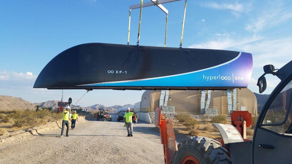 Der erste Prototyp vom Hyperloop One