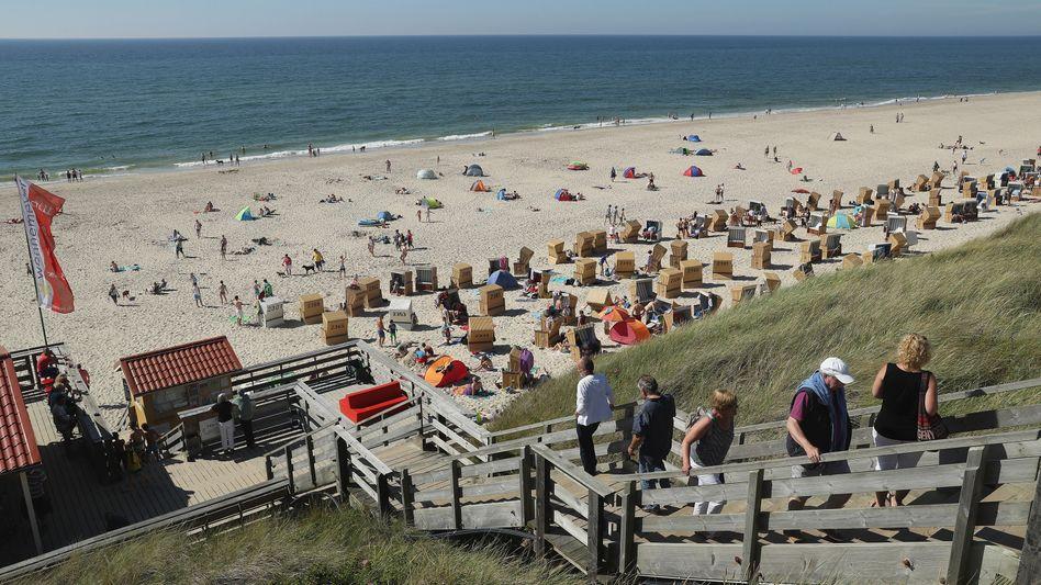 Strand von Wenningstedt auf Sylt