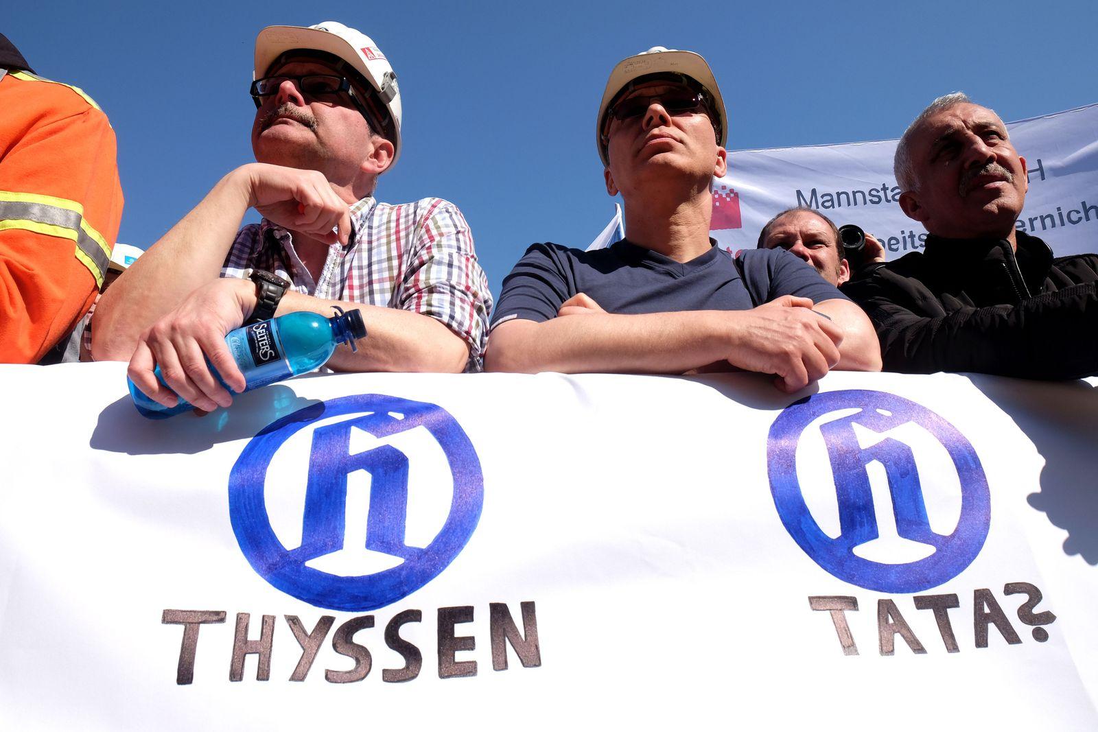 Demo Stahl Thyssen Tata