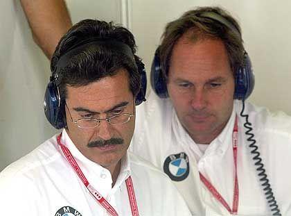 Ihr Motoren-Konstrukteur wurde abgeworben: Mario Theissen und Gerhard Berger vom BMW-Williams-Rennstall