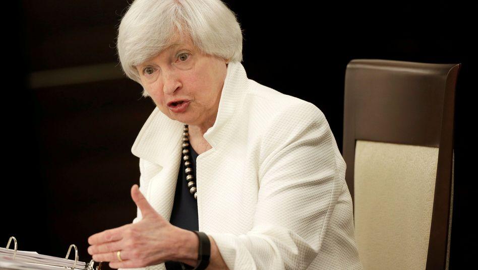 """Ehemalige Fed-Chefin Janet Yellen: """"Historisch gesehen war die Zinskurve ein verlässliches Signal - heute dürfte es aber anders sein"""""""