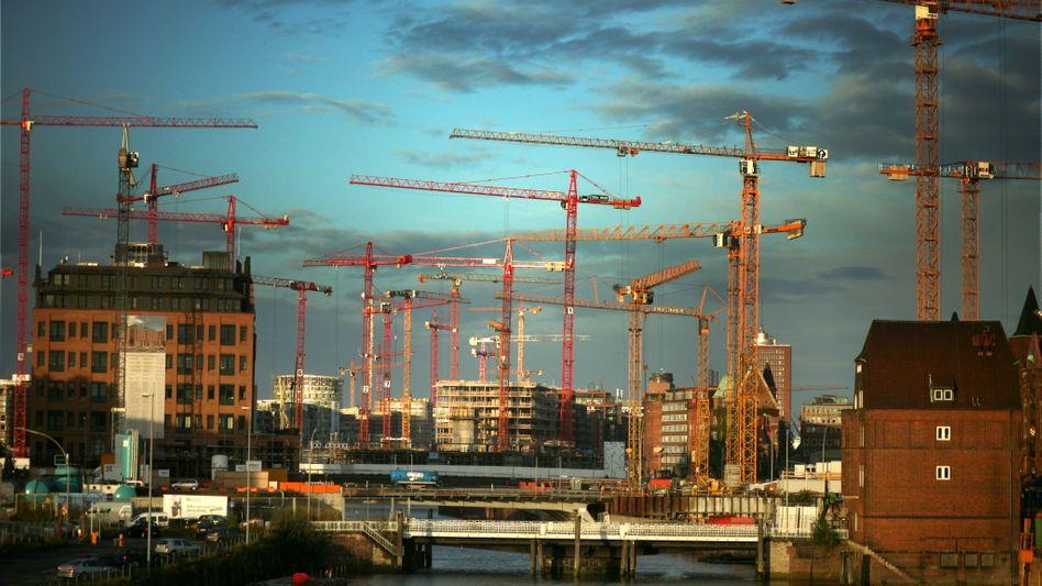 Großbaustelle Hafencity in Hamburg: Deutsche Immobilien sind gefragt - auch im Ausland