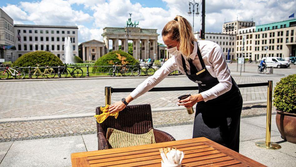 Deutschlands Gastgewerbe öffnet wieder:In den letzten Tagen haben viele Restaurants sogar ihre volle Kapazität wiedererlangt