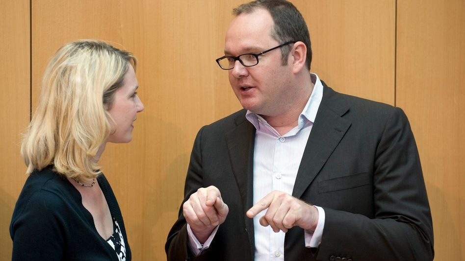 Harald Christ mit Manuela Schwesig, inzwischen Ministerpräsidentin von Mecklenburg-Vorpommern.