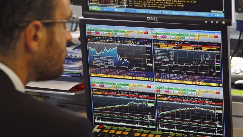 Augen auf: Börsianer haben unruhige Tage hinter sich