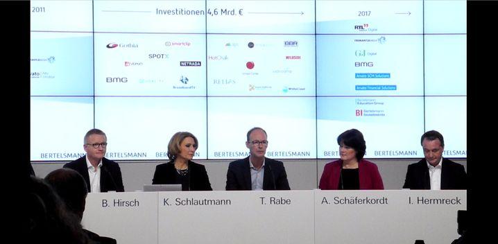 Bilanz-Pressekonferenz von Bertelsmann.