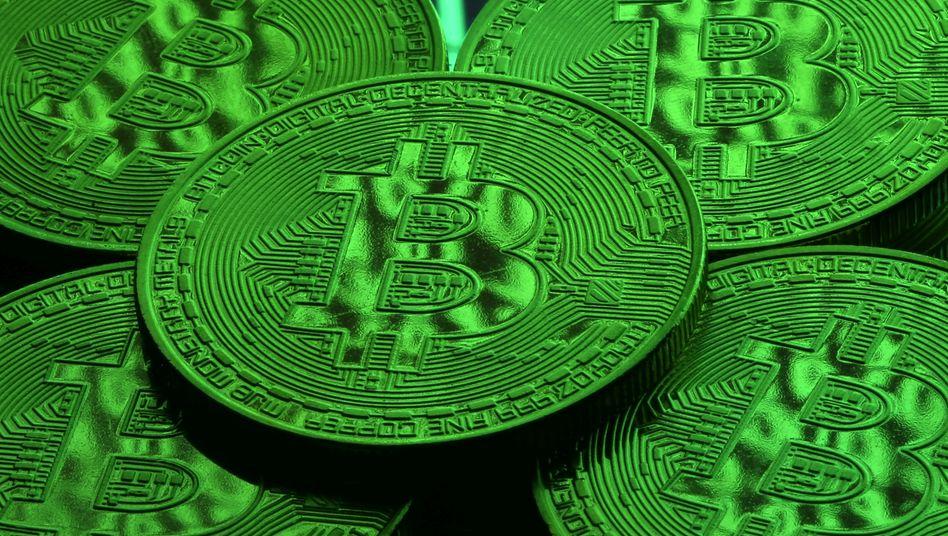 Symbolfarbe grün: Viele Investoren dürften zurzeit hoffen, dass der Bitcoin-Aufschwung diesmal hält.