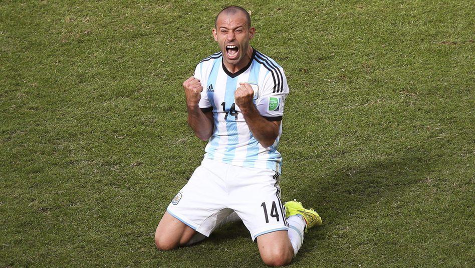 Javier Mascherano: Der argentinische Nationalspieler hatte gegen Belgien getroffen. Und wie beim Sport gilt an der Börse - alle Zeichen ernst nehmen. Jederzeit.