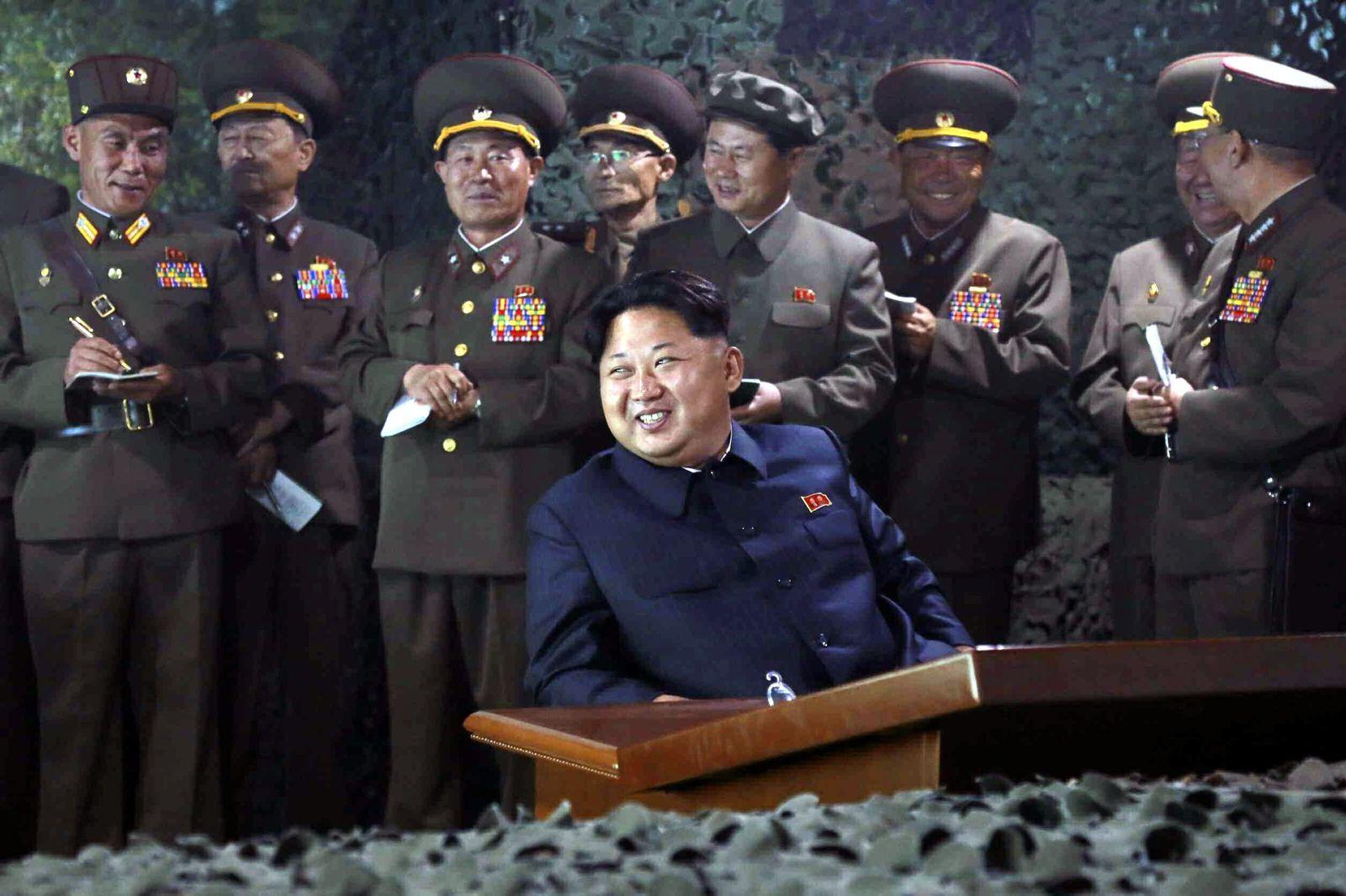 North Korea nighttime firing drill