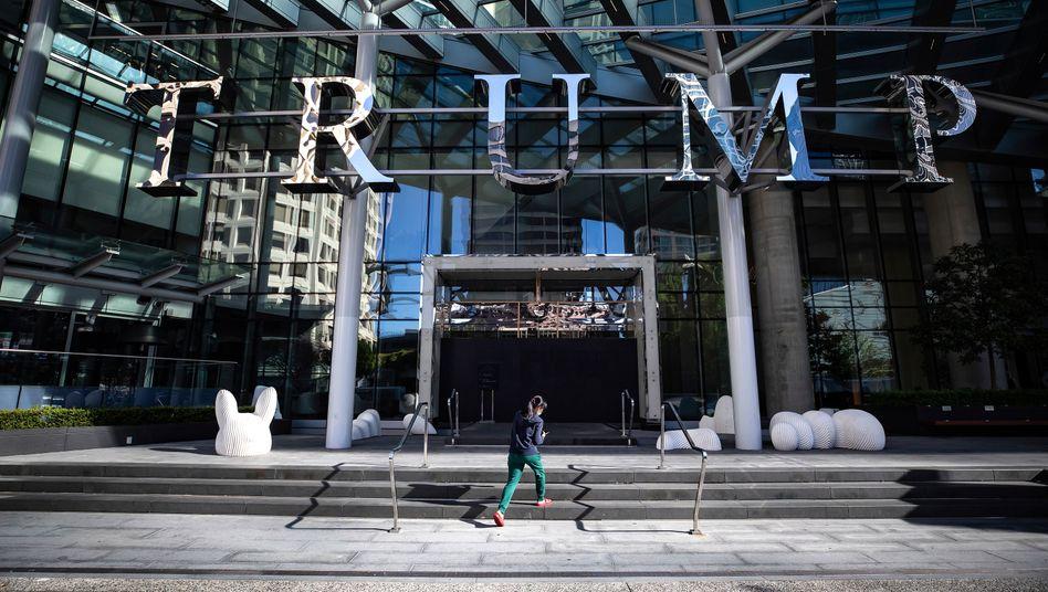 Geschlossen: Der Eingang des Trump International Hotel in Vancouver
