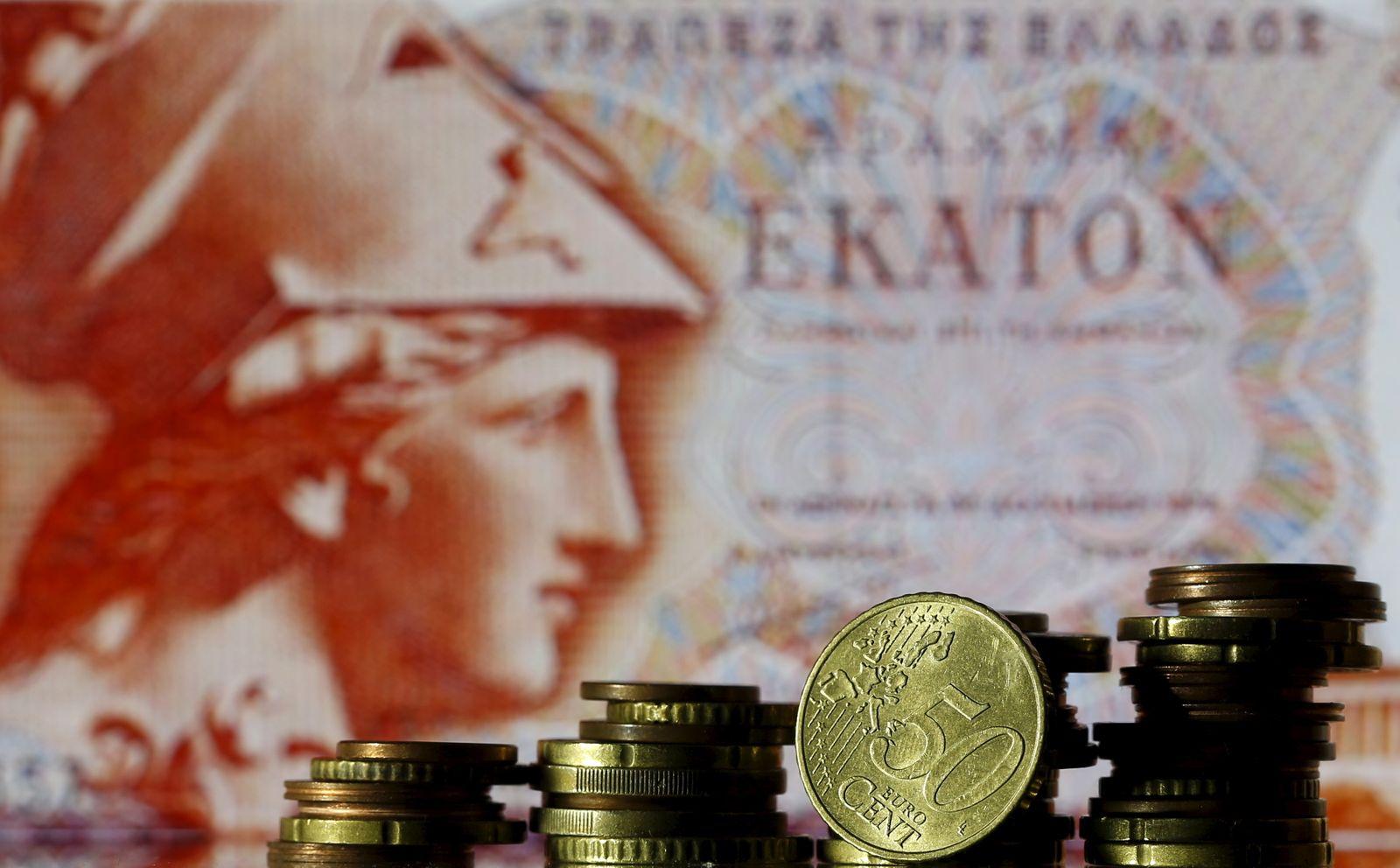 Griechenland; Drachme (Athena) vor Euro; closeup