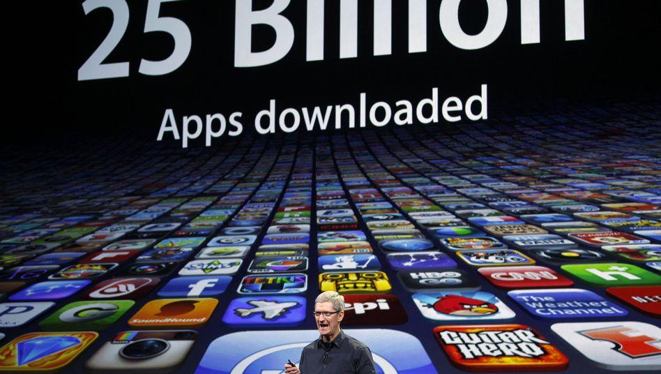 Apple-Lenker Tim Cook: Dank Aktienoptionen im Vorjahr auf einen Schlag reich