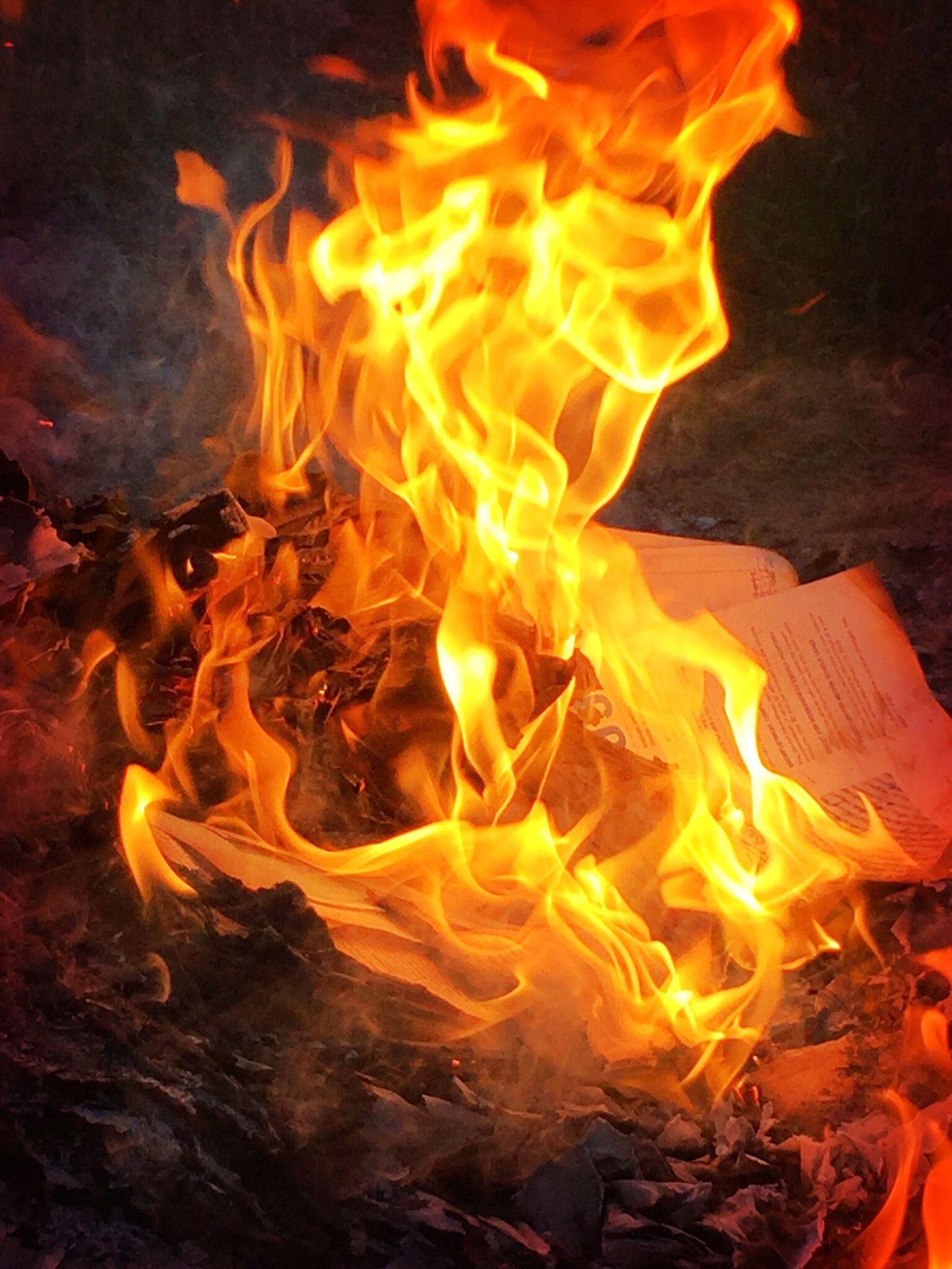 EINMALIGE VERWENDUNG Feuer / Brief
