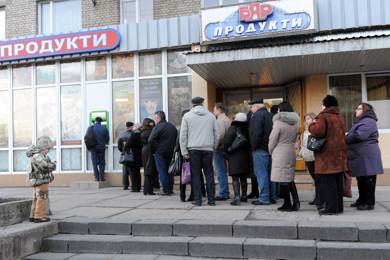 Ukraine / Geldautomat