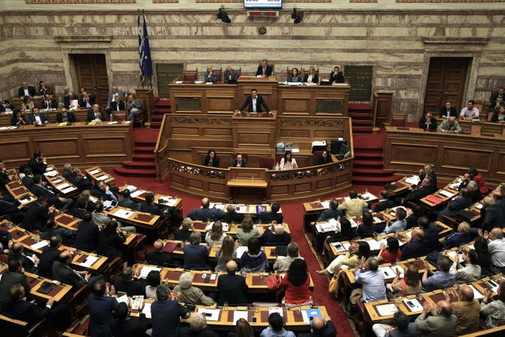 Parlament in Athen: Tsipras will vor dem EU-Gipfel am Sonntag ein Vertrauenssignal an die Geldgeber schicken und sich bereits heute die Unterstützung des griechischen Parlaments für die vorgeschlagenen Reformen sichern