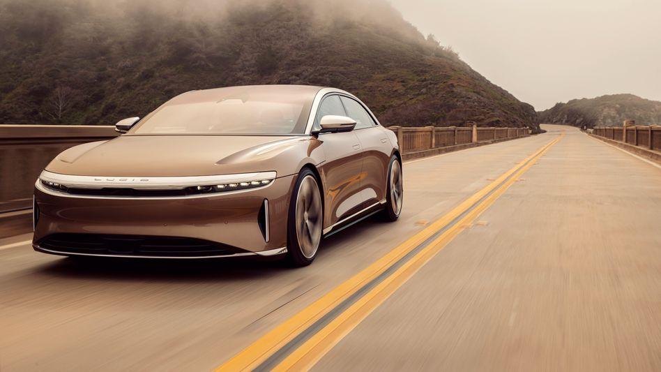 Prototyp: Lucid Motors gilt mit seinem Luxuselektroauto Lucid Air als einer der hoffnungsvollsten Nachahmer des Geschäftsmodells von Tesla
