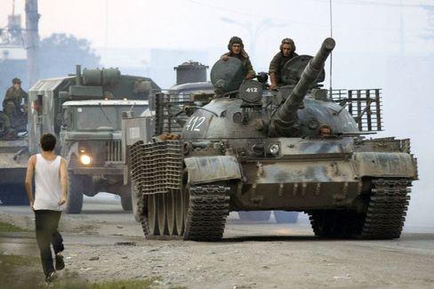 Gefechte: Russische Soldaten in Georgien