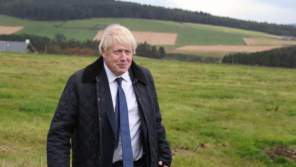 Allein in den Highlands: Boris Johnson liebt die Pose
