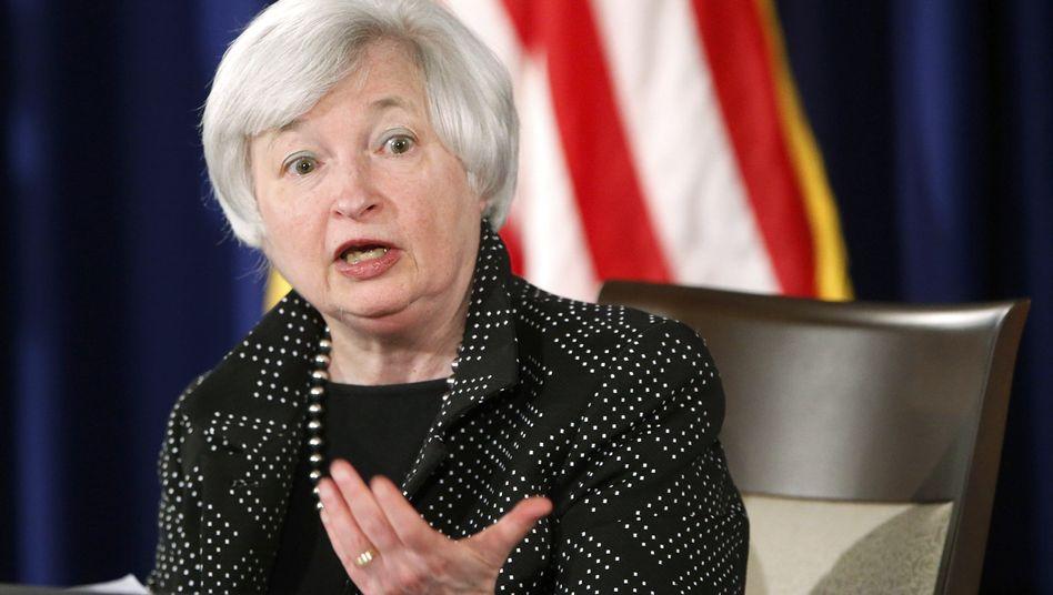 Fed-Chefin Yellen: Das Anleihe-Kaufprogramm läuft aus. Doch die Notenbank ist weiterhin an Ruhe an den Finanzmärkten interessiert