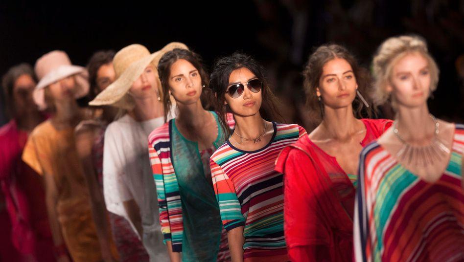 Models auf der Fashion Week in Berlin: Künftig müssen sie den Flieger nach Frankfurt nehmen.