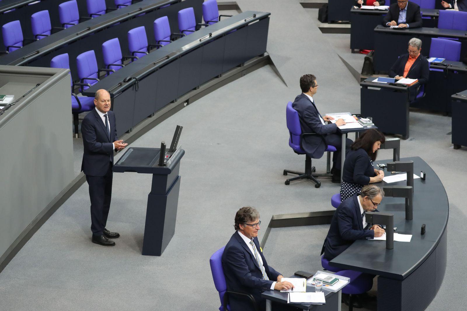 German Bundestag debates on Corona stimulus and crisis management package, Berlin, Germany - 02 Jul 2020